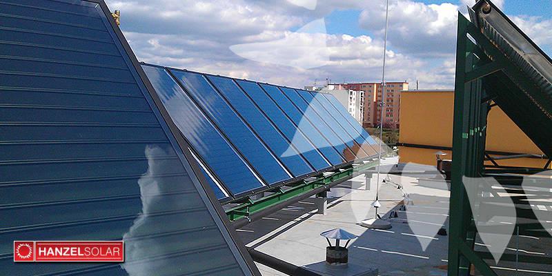 Montáž solárneho systému pre bytový dom