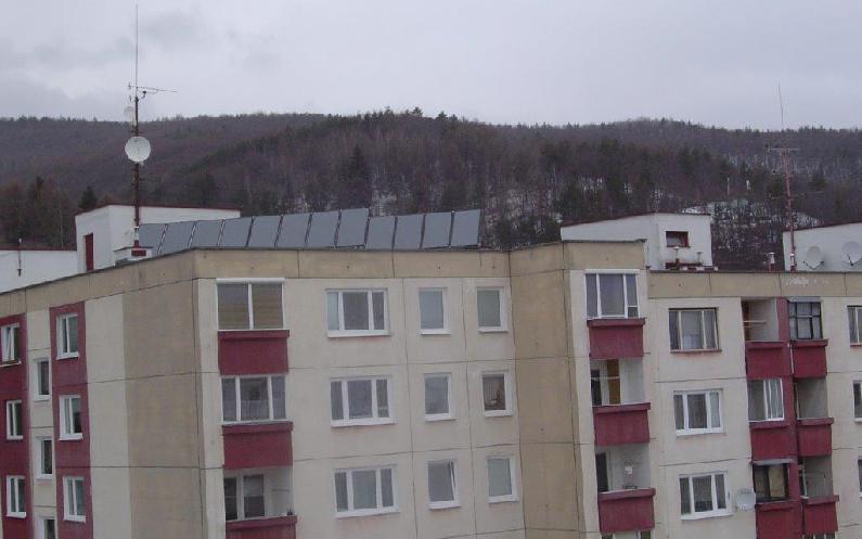 Realizácie - Malý solár 16 kolektorov TS 300 a1500 l zásobník